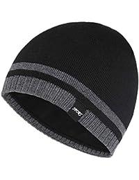 Mens Winter Beanie Hat Warm Knit Cuffed Plain Toboggan Ski Skull Cap 4 Colors