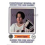Simon Gagne Hockey Card 2006 Quebec Pee-Wee Danone #4 Simon Gagne