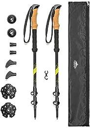 Cascade Mountain Tech Carbon Fiber Adjustable Lightweight Trekking Poles for Hiking, Walking and Running in al