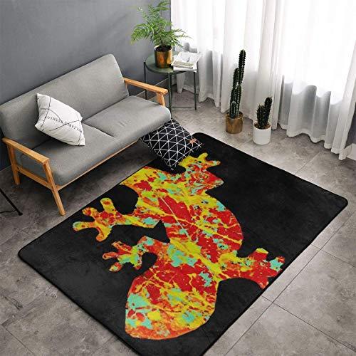 Jingclor Artistic Gecko Funny Pattern Area Rugs, Bedroom Living Room Kitchen Mat, Non-Slip Floor Mat Doormats Nursery Rugs, Children Play Throw Rugs Carpet Yoga Mat