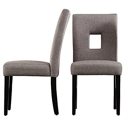 Prime Modhaus Living Modhaus Modern Gray Linen Square Keyhole Dining Chairs Black Finish Wooden Legs Set Of 2 Includes Tm Pen Ocoug Best Dining Table And Chair Ideas Images Ocougorg