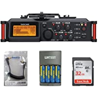 Tascam DR-70D 4-Channel Audio Recorder For DSLR Camera, Acc Bundle. Kit #DR70DK