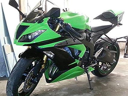 Amazon.com: Moto Onfire Green & Black Fairings For Kawasaki ...