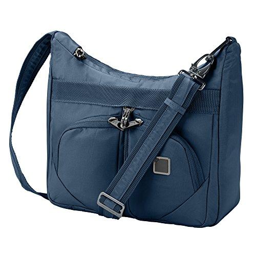 Lewis N. Clark RFID Blocking Anti-theft Satchel Bag + Messenger Bag for Women, Travel or Work Bag with Slash Resistant Material, Locking Zippers & Adjustable Shoulder Strap, Lake