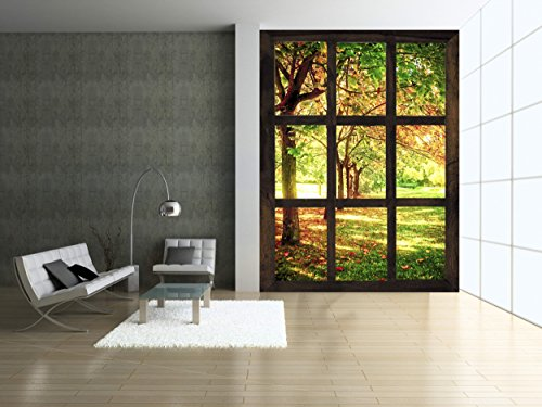 Startonight Mural Wall Art Photo Decor Window to a Sunny Morning Large 4-feet 2-inch By 6-feet Wall Mural for Living Room or (4' Mural)