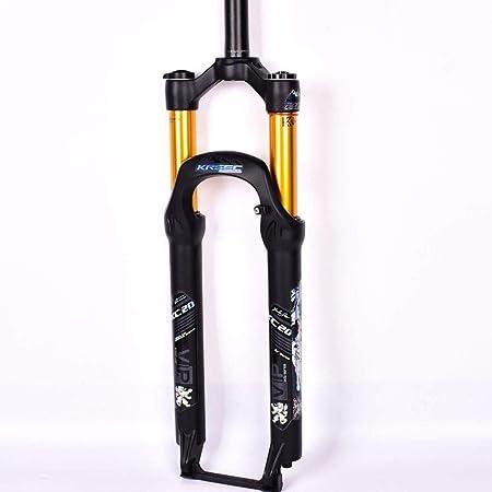Horquilla De Suspensión MTB De 26 Pulgadas Horquilla Delantera De Bicicleta De Montaña Ultraligera Bicicleta De Aleación De Magnesio Amortiguador De Liberación Rápida,Yellow: Amazon.es: Hogar