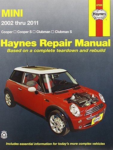 mini-cooper-cooper-s-clubman-clubman-s-2002-through-2011-haynes-repair-manual