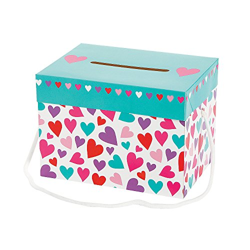 Fun Express  Valentine Card Box Girl for Valentine#039s Day  Party Supplies  Containers amp Boxes  Paper Boxes  Valentine#039s Day  12 Pieces