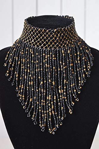 African Handmade Beaded Choker Necklace, Maasai Beads, for sale  Delivered anywhere in USA