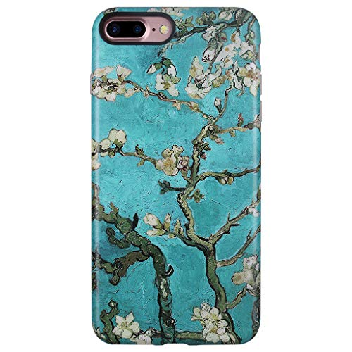 GOLINK Cute Case for iPhone 7 Plus/iPhone 8 PlusCase, Matte Finish Cute Series Slim-Fit Anti-Scratch Shock Proof Anti-Finger Print Flexible TPU Gel Case for iPhone 7/8 Plus(Almond Tree)