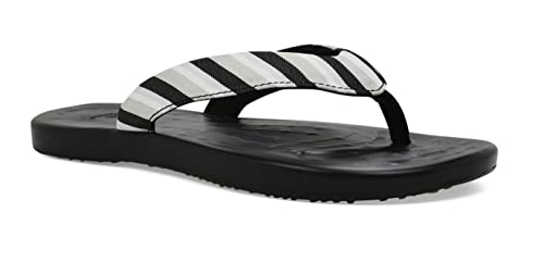 9478ab380100d SoftScience Women s Waterfall Stripe Flip-Flop Black 10