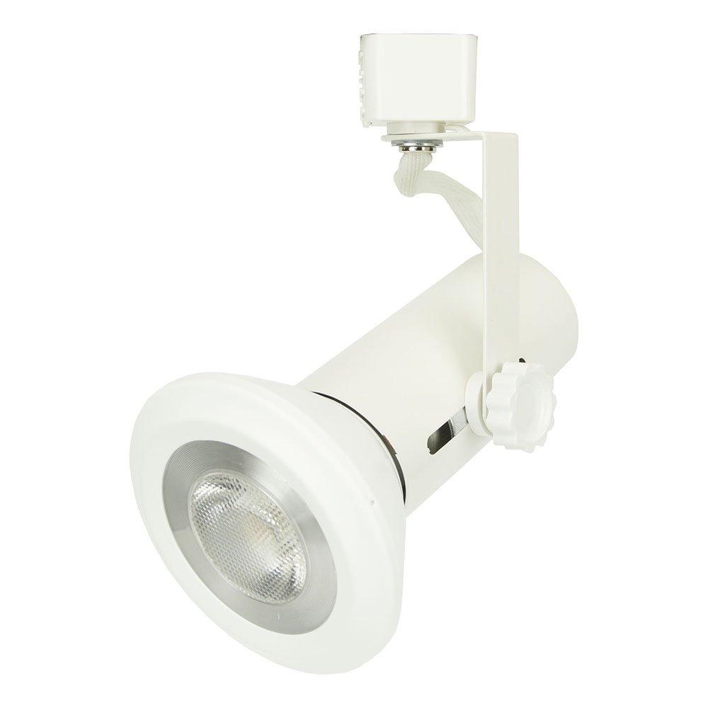 D&D Brand H System Universal PAR Line Voltage Track Lighting Fixture White HTC-9007-WH ( No Bulb )