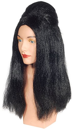 Costume Halloween Guidette (Loftus International Star Power Jersey Poof Snookie Guidette Adult Wig Black One Size Novelty)