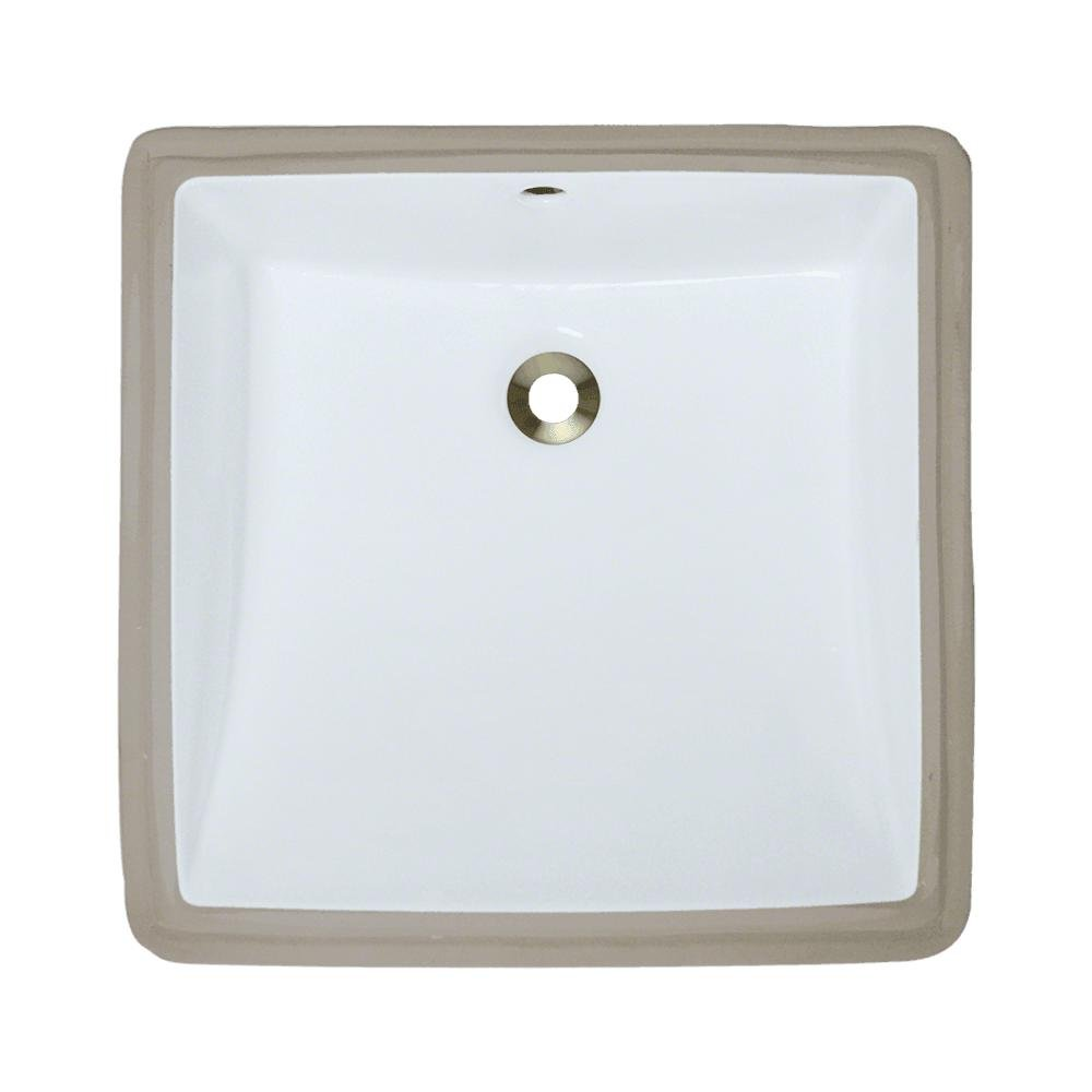 U2230-White Undermount Porcelain Bathroom Sink, Sink Only