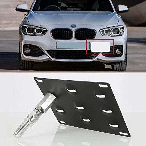 - Paddsun Front Bumper Tow Hook License Plate Mount Bracket Holder Bolt On For BMW E82 E88 E90 E91 E92 E93 E70 E71 128i 135i 1M 325i 328i 330i 335i M3 X5 X6