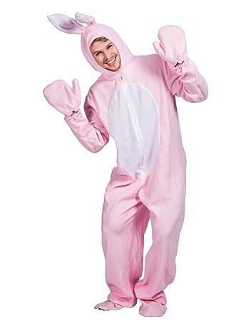 60% günstig ungleich in der Leistung ziemlich cool EraSpooky Ostern Rosa Kaninchen Kostüm Hasenkostüm für Erwachsene