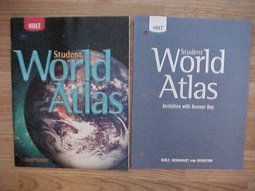Student Mapquest Atlas - Package of 2 Holt Mapquest Student World Atlas and Student World Atlas Activities With Answer Key