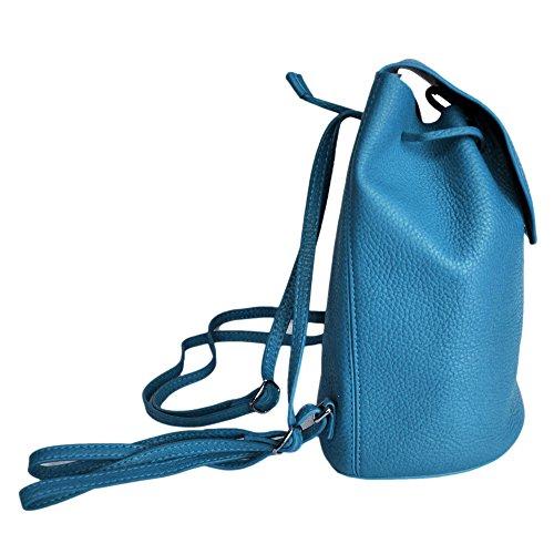au porté seau LIVAN aux de Femme à cuir dos à Sac forme l'épaule vachette grainé Petit Turquoise dos bretelles zwq1vp