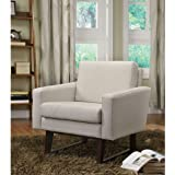 Coaster 900176 Linen-Textured Accent Chair, Beige ♏ Chairs ListChairs