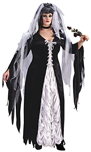 Women's Bride of Darkness Outfit Fancy Dress Halloween