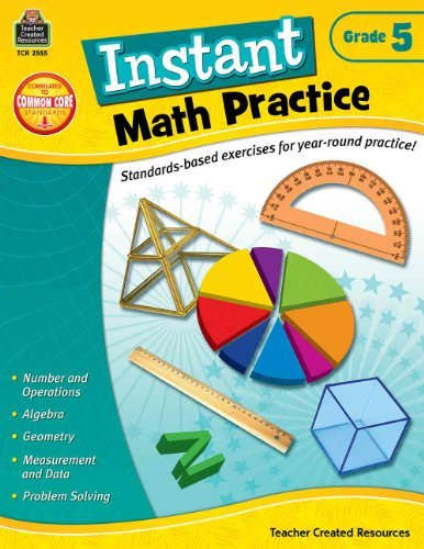 Instant Math Practice (Gr. 5) by Teacher Created Resources