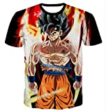 Dragon Ball T Shirt Men Women Summer Tops Tees Camisetas Hombre Casual Hip Hop Streetwear 3D T-Shirts Tshirt (M)