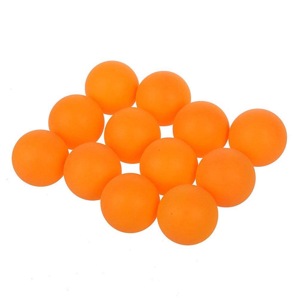 Pelotas de tenis de mesa - SODIAL(R) Deportes Ping-pong de naranja de plastico Pelota de ping-pong 40 mm diametro 12 Piezas