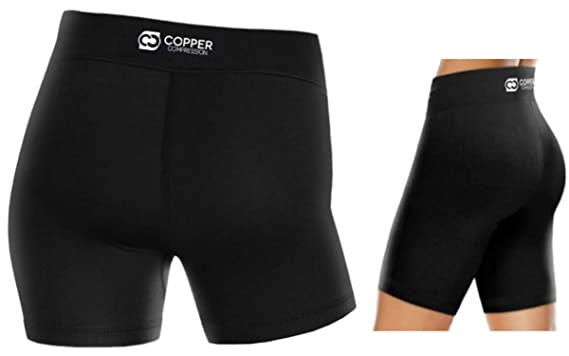 7f5abba835 Amazon.com: Copper Compression Womens Shorts - Tight Spandex Short for  Women Highest Copper: Clothing