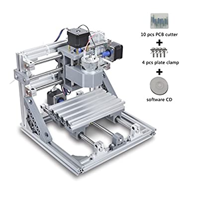 DIY CNC Router Kits 1610 Wood PCB Carving Engraving Milling Machine GRBL Control 3 Axis(XYZ Working Area 16×10×4.5 CM ?