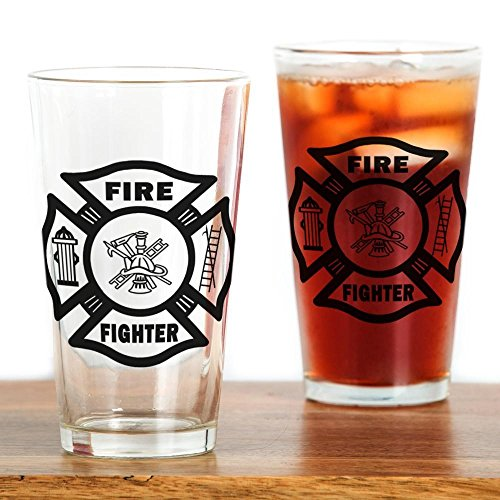 CafePress - Fire Fighter - Pint Glass, 16 oz. Drinking Glass
