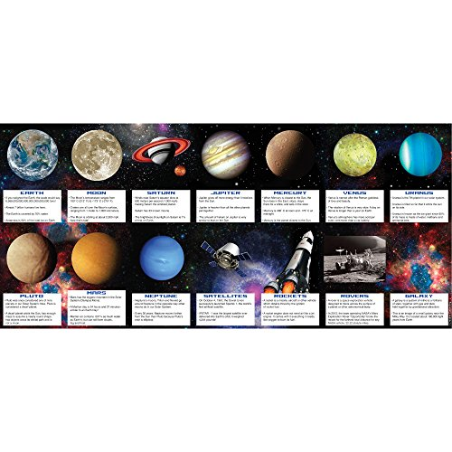 Creative Converting Space Blast Party Favour Fact Cards - Pack of 14 Cards