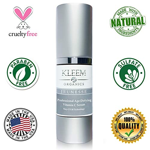514zTt95H%2BL - ORGANIC Vitamin C Serum for Face, Neck & Décolleté for Anti Aging, Age Spots, Acne & Neck Firming - BEST Anti Wrinkle Facial Treatment Serum with Natural Ingredients to Restore & Boost Collagen - 1 oz