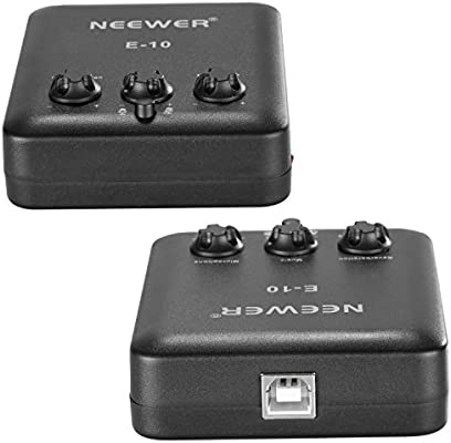 Neewer Tarjeta de Sonido Externa USB Impulsión Libera Diseño ...