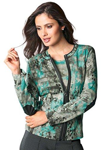 Atelier Goldner Schnitt: Damen-Shirtjacke grün Gr.50