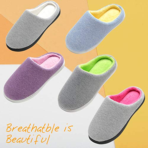 Memory Cozy Grey Foam Slippers Skid House amp;Outdoor Anti Cotton Indoor Rose Women's Knitted Shoes INFLATION xqwgECBUI