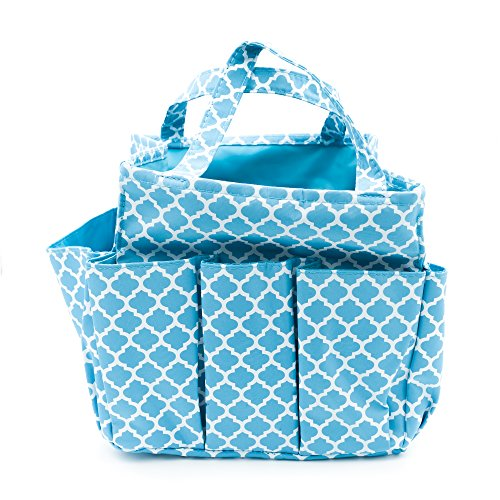 Bag Gardening (Small Garden Tote Bag, Utility Bags for Gardening, Car Totes, Organization, (Aqua Blue))