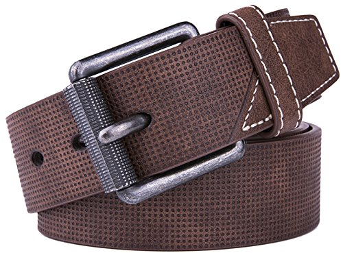 Belt for men, Fashion and Classic Leather belt for Jeans and Work Business - Big Sale New Belts (32, 1 D Brown) by Fabio Valenti (Image #1)