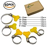 35 mm pipe - Aiskaer 60 Piece 9-35mm Key-Type Adjustable Stainless Steel Hose Clamp, Pipe Clamp, Worm Gear Clamps Ideal For Plumbing,Automotive