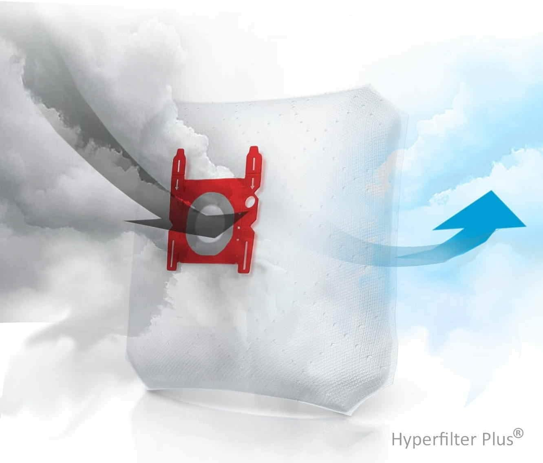 10 Bolsas + 2 microfiltros recortables para aspiradores Carrefour ...