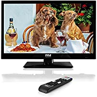 Upgraded Pyle 18.5-Inch 1080p LED TV | Ultra HD TV | LED Hi Res Widescreen Monitor with HDMI cable RCA Input | LED TV Monitor | Audio Streaming | Mac PC | Stereo Speakers | HD TV Wall Mount