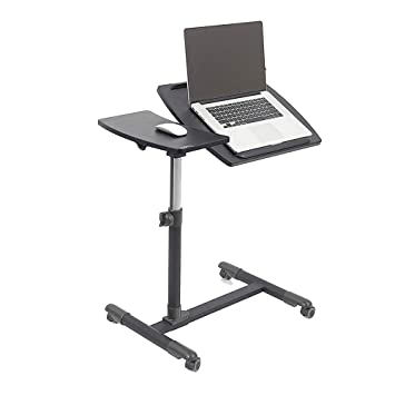 ZHIRONG Carro portátil para Escritorio con Soporte para computadora portátil con Tablero de Mouse, Altura