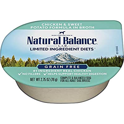Natural Balance L.I.D. Limited Ingredient Diets Wet Dog Food in Broth, 2.75 Ounce (Pack of 24)