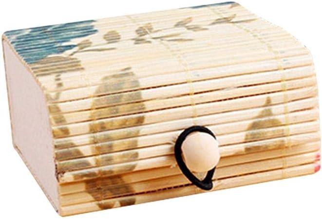 Depory Cajas para Joyas Caja De Almacenamiento De Anillas De Bambú Creativo para La Caja De Las Damas De Gran Capacidad con Forma De Anillo: Amazon.es: Hogar