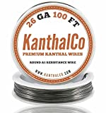 (TM) KanthalCo 26 Gauge 100ft Premium AWG A1 Kanthal Wire 100ft Roll 0.40386 mm , 3.21 Ohms/ft Resistance by KanthalCO