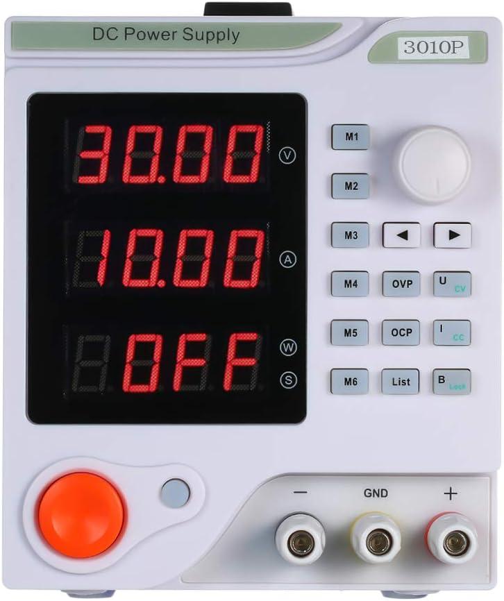 KKmoon Display a 4 cifre LED Alimentatore Programmabile CNC Alimentatore di Alta Precisione Variabile Regolabile 0-30V 0-10A Alimentatore a Commutazione CC Grado di Laboratorio Regolato Digitale