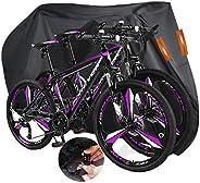 Indeed BUY - Funda para bicicleta para 2 bicicletas, resistente al agua, cubierta de almacenamiento para bicic