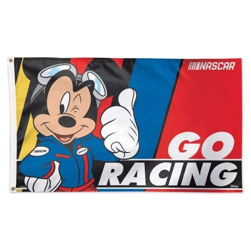 NASCAR Racing 3 x 5 Deluxe Flag with 2018 Sponsor Graphics (Mickey - Go Racing)