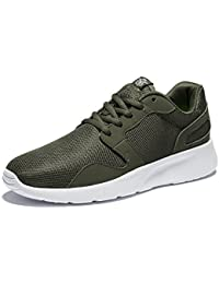 WOTTE Men's Running Shoes Comfortable Breathable Full Mesh Cross-Traning Sports Shoes Sneakers
