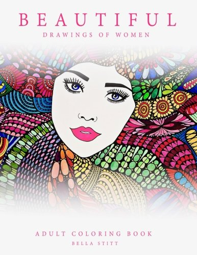 [Adult Coloring Book Beautiful Drawings of Women] (Jumbo Hip Hop Adult Hat)
