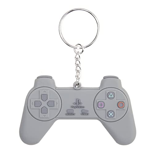 Sony Playstation: Controller Shaped Rubber Keychain ...